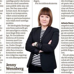 Har Jenny Wennberg blivit nyliberal?