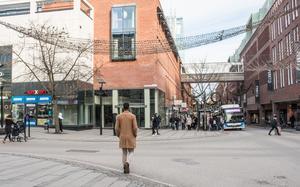 Korsningen Stora gatan/Vasagatan 2019.