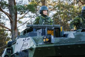 Förberedelser på Norrbottens regemente I 19 i Boden förbereder man sig inför Natoövningen Trident Juncture 18. Foto: Petra Älvstrand / TT /