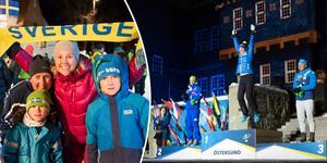 Hundratals personer tog sig till medaljceremonin för att fira skidskytten Hanna Öberg.