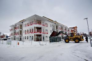 Den nya fastigheten på Köpmangatan i Sandviken där Anne och Thomas Forsberg flyttar in i mars.