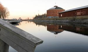Området kring Stenborgskanalen har ett utsatt läge när havet stiger.