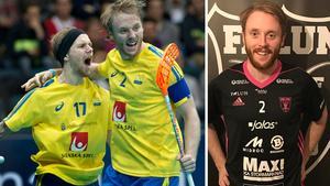 Rasmus Enström och Johan Samuelsson i landslaget. Nu blir de också lagkamrater i IBF Falun. Foto: TT/IBF Falun
