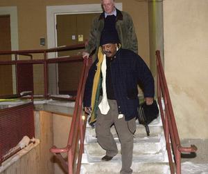 Lawrence Jones när han häktades.  Bild: Lars Nyqvist