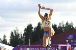 Emelie Nyman Wänseth hoppade långt igen – men hade mer i kroppen. Bild: Erik Simander/TT
