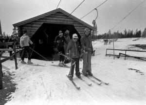 En av de tidiga skidliftarna på Idre Fjäll. Foto Idre Fjäll
