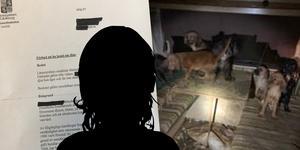 Handlingarna som rör kvinnan och hennes djurhållning är lång och otäck läsning. Foto på hundarna: Polisen
