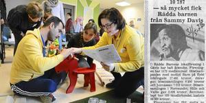 I samarbete med Ikea har Rädda Barnen ställt i ordning ett lekrum för barnfamiljer hos Migrationsverket i Gävle. Till höger: 1970. En givmild artist.