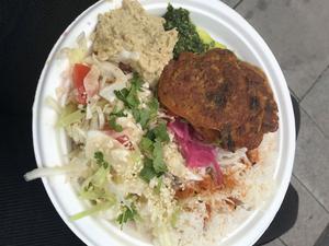 Food for Garthlings. Veganska biffar med ris.