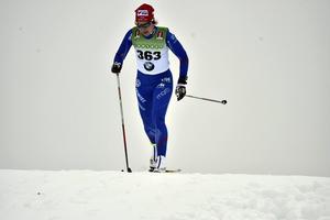 Anna Haag på väg mot en tredjeplats i premiären.