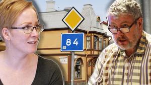 Lena Svahn och Jonny Mill debatterade riksvägsfrågan i kommunstyrelsen.