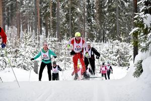 Susann Larsson, Vansbro och , Reidar Martin Steigen från norska Alvdal på väg mot Läde.