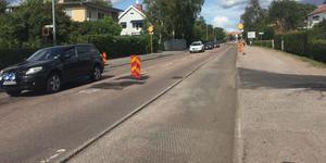 Under tisdagen påbörjades fräsningsarbetet på Parkvägen.