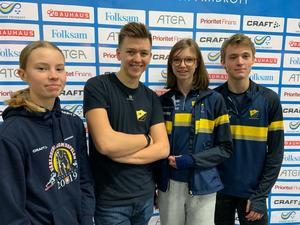 Emma Sandin till vänster var en av deltagarna från jönköpingsområdet som gjorde bra resultat på ungdoms-SM.