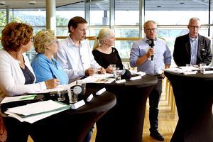 Under kvällen får du direktsända uppdateringar från valvakorna runt om i Västernorrland. Bilden är från en politiskdebatt om vården i länet.