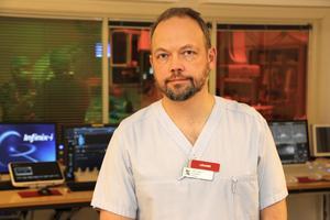 – Våra behandlingar är i allmänhet skonsamma för patienten, i de flesta fall behövs ingen narkos, säger Olle Haller, överläkare på Gävle sjukhus röntgenavdelning.