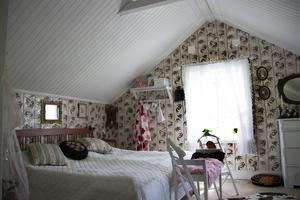 Sovrummet på den tillbyggda övervåningen.