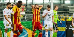 Mattias Genc missade målet på matchens sista chans. Foto: Maxim Thoré/Bildbyrån