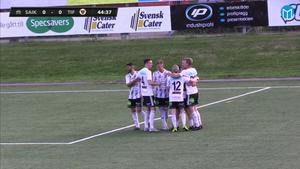 SAIK-jubel i derbyt efter Jens Åbergs luriga frisparksmål.