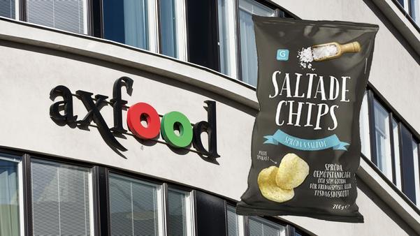 På tisdagseftermiddagen meddelade Axfood att man återkallar chipspåsar med Salta chips, av märket Garant (se bilden).