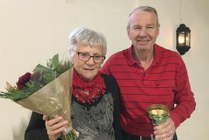 Maj-Britt Engelbrektsson och Sölve Staaf fick uppskattning för sina bouleinsatser. Foto: Lilian Palmgren
