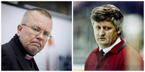 Leif Boork och Jan-Åke Andersson, två tränare under Tore Erkéns tid som Modo-ordförande. En blev tillrättavisad, en sparkad.Foto: Bildbyrån