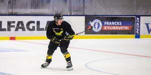 Alexander Lunsjö tränade för fullt för första gången sedan skadan på måndagen.