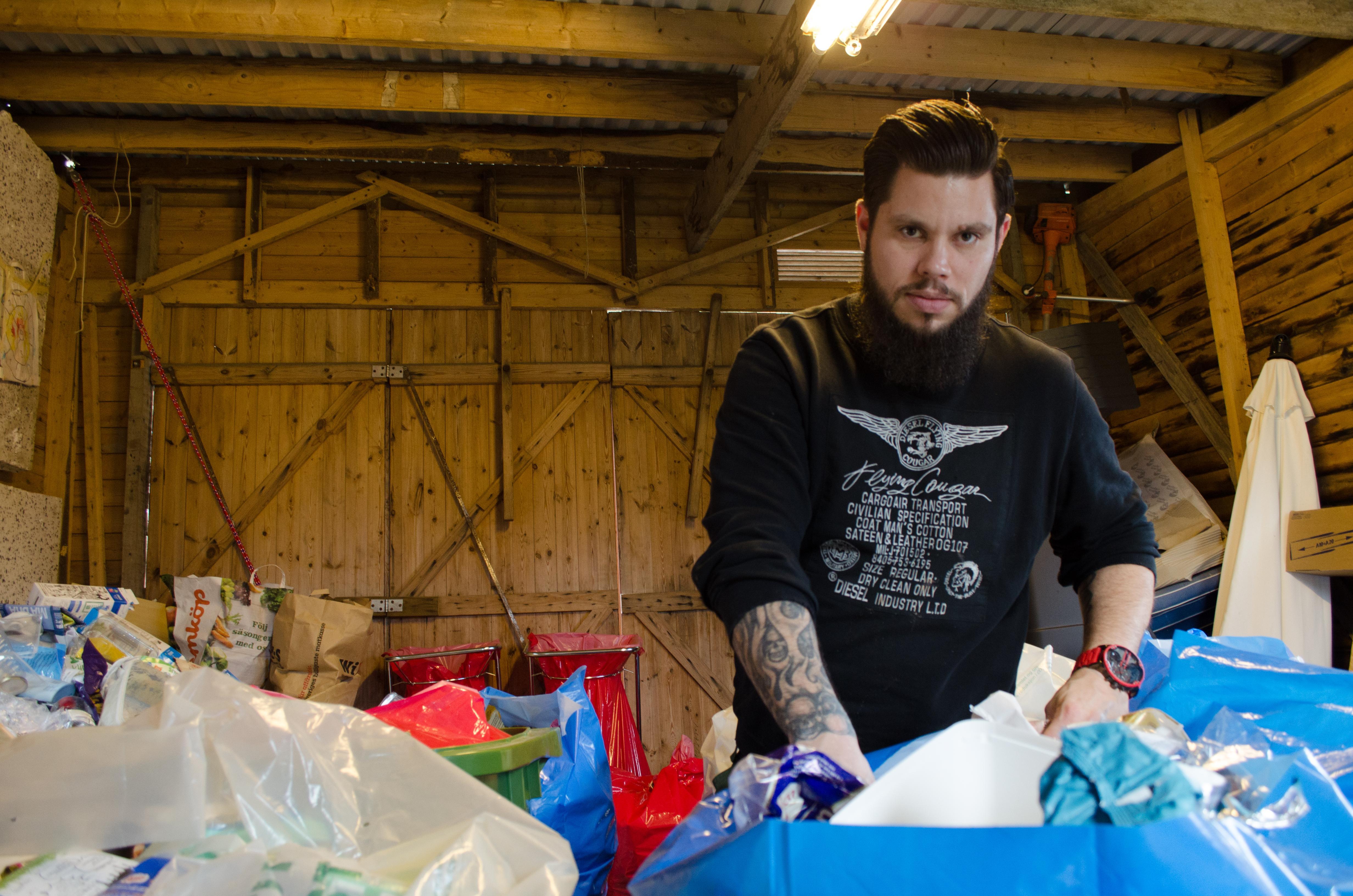 David Andersson startade sitt återvinningsföretag i våras.