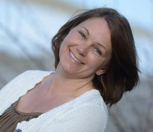 Camilla Eklund fick besök av en mård på tomten. Foto: Privat