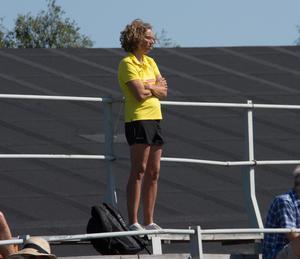 På läktarplats syntes friidrottsförbundets förbundskapten Karin Torneklint. Tävlingen var en observationstävling inför lag-EM.