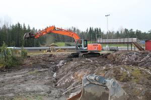 Arbetet med att bygga en ny depå på HZ Bygg Arena är redan i gång.