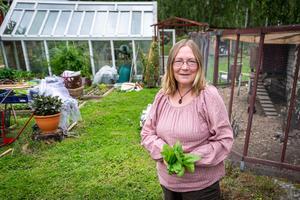 Maria Ivarsgård har siktet inställt mot självförsörjning. Foto: Bengt Pettersson