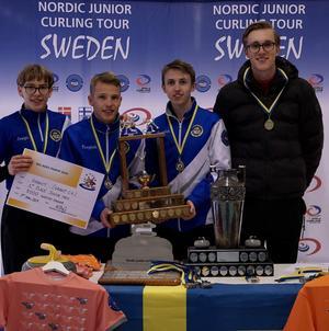 Team granit består av: Ludvig Köhn, Gustav Köhn, Rasmus Israelsson, Robin Ahlberg och Arvid Norin (ej med på denna turnering).