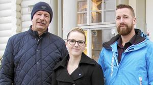 Ockelbopolitikerna Dan Brodin (KD), Liz Zachariasson (SD) och Linus Gunnarsson (M). Foto: Simon Larsson