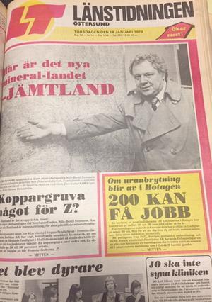 LT den 18 januari 1979. Intresset för att hitta mineraler var stort.