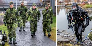 Dubbla försvarsövningar pågår i Härnösand.
