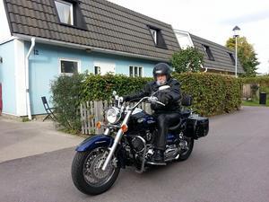 Ett av Agne Furingstens flera intressen är att åka motorcykel. Bild: Privat