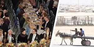 Nobelfesten och ett flyktingläger.