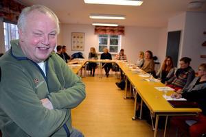 Projektledaren för S:t Olavsleden, Putte Eby, var positiv efter tisdagens möte på Hussborg herrgård.