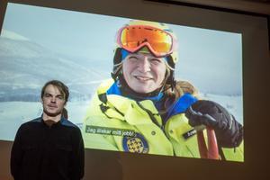 William Jonasson är lavintekniker och marknadsansvarig i Tänndalen. Har vid en tidigare visning av en film om skidområdet.