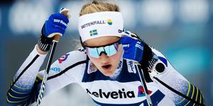 Stina Nilsson hade det tungt på distansloppet.