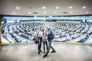 Turister besöker EU-parlamentet. Vilken bild av EU och Europa tar de med sig hem?