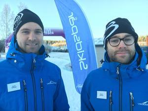 Martin och Robert Landås  som driver Vedbobacken.