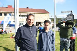 Kamal Abo-Gilal med sonen Mohammed.