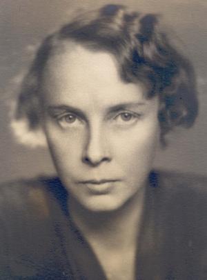 Hjälten Ester Blenda Nordström. Foto: okänd