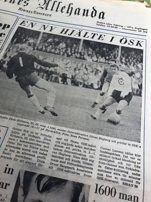 Den 20 oktober 1969 hyllas en 25-årig ÖSK-debutant vid namn Dixie Ericson. Efter blott två matcher utnämns han i NA som