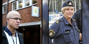 Lars Herbring och Carola Wiklund är några av poliserna som jobbar med de personrån som skett den senaste tiden.