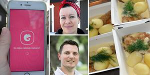 I appen Karma kan man köpa lunch för halva priset. Åtta verksamheter i Borlänge är anslutna i dagsläget.