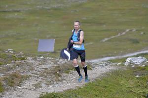Jonas Djurback, Falun, på väg mot en fin andraplacering på långa banan.