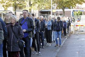 Köerna ringlade långa utanför Växhuset när Retromarknaden öppnade.